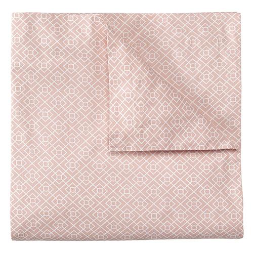 Company C Diamond Lattice Blush Full/Queen Duvet