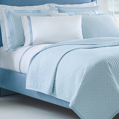 Diamond Lattice Lake Twin Quilt