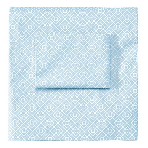 Company C Diamond Lattice Lake Standard Pillow Case Pair
