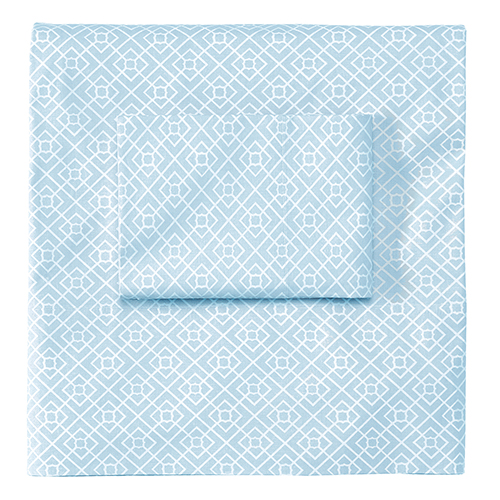 Company C Diamond Lattice Lake Twin Sheet Set