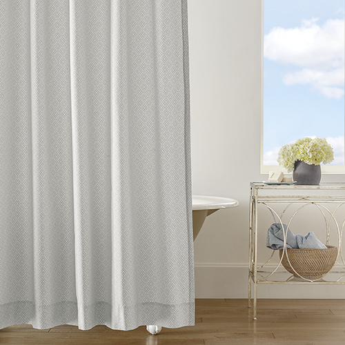 Diamond Lattice Pewter Shower Curtain