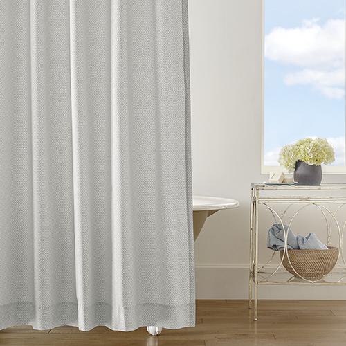 Diamond Lattice Pewter Shower Curtain