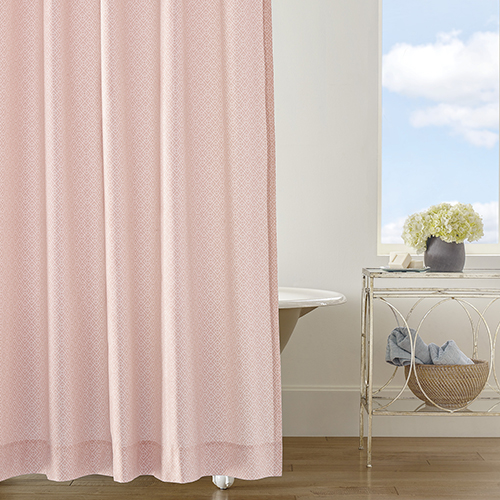 Diamond Lattice Blush Shower Curtain