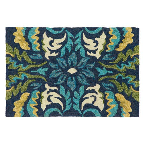 Company C Margie Ultramarine Rectangular: 2 Ft. x 3 Ft. Indoor/Outdoor Rug