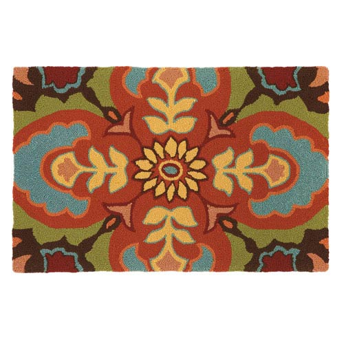 Talavera Tile Espresso Rectangular: 2 Ft. x 3 Ft. Indoor/Outdoor Rug
