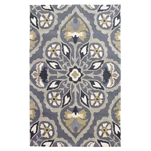 Pierre Pewter Rectangular: 8 Ft. x 10 Ft. Indoor/Outdoor Rug