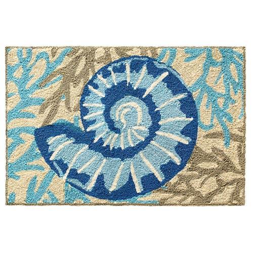 Adrift Blue Rectangular: 2 Ft. x 3 Ft. Indoor/Outdoor Rug