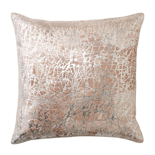 Mica Platinum 22 In. Throw Pillow with Down Insert