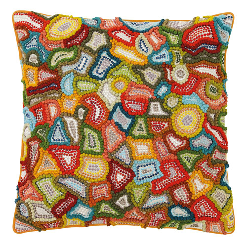 Murano Multicolor 18 In Throw Pillow With Down Insert