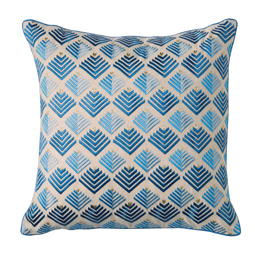 Prism Mineral Blue 18 In. Throw Pillow with Down Insert