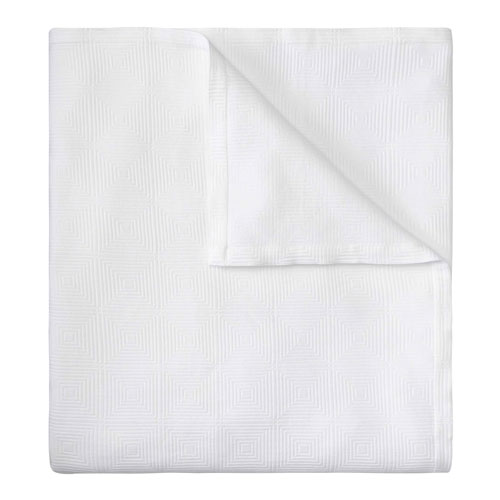Ellora Matelasse White Twin Quilt