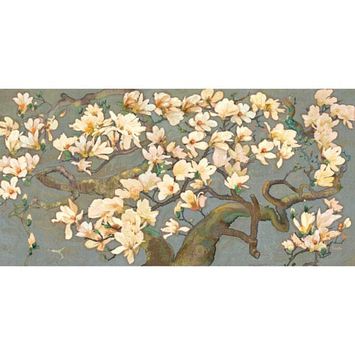 Marmont Hill Magnolia Branches IV 45 x 22.5 In. Painting Print on Wrapped Canvas