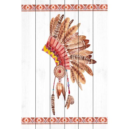 Marmont Hill Head Dress 30 x 45 In. Painting Print on White Wood
