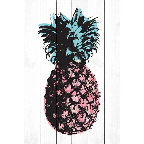 Pineapple Multi 30 x 45 In. Painting Print on White Wood