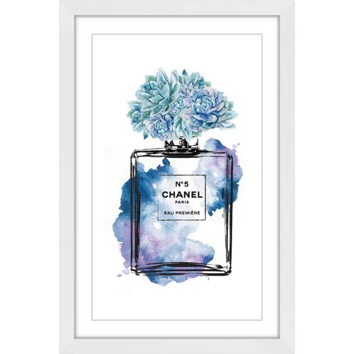 Marmont Hill Floral Blue 24 x 36 In. Framed Painting Print