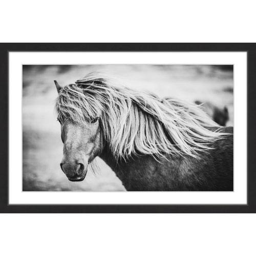 Marmont Hill Beautiful Mane 36 x 24 In. Framed Painting Print