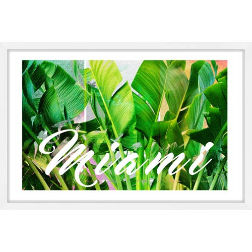 Marmont Hill Miami Green 18 x 12 In. Framed Painting Print