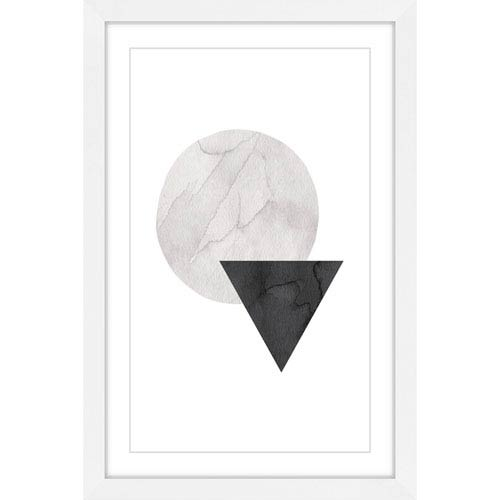 Marmont Hill Circle Triangle 16 x 24 In. Framed Painting Print