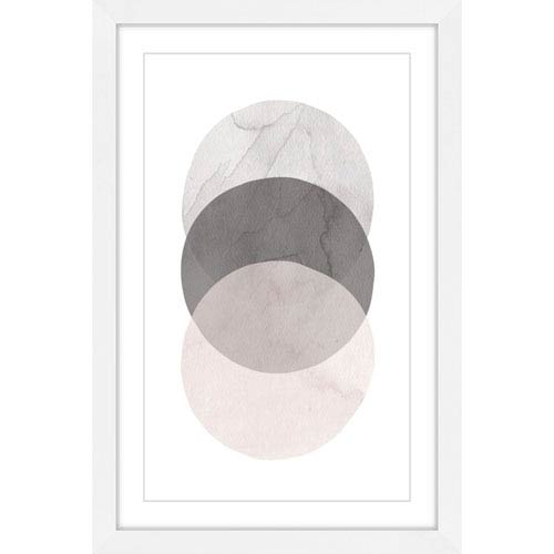 Marmont Hill Three Circles 20 x 30 In. Framed Painting Print