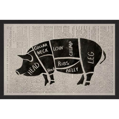 Marmont Hill Pork Cuts 24 x 16 In. Framed Painting Print