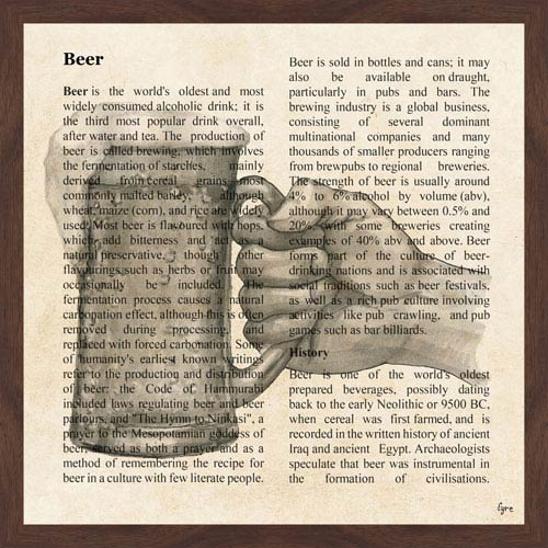 Marmont Hill Beer Toast 18 x 18 In. Framed Painting Print