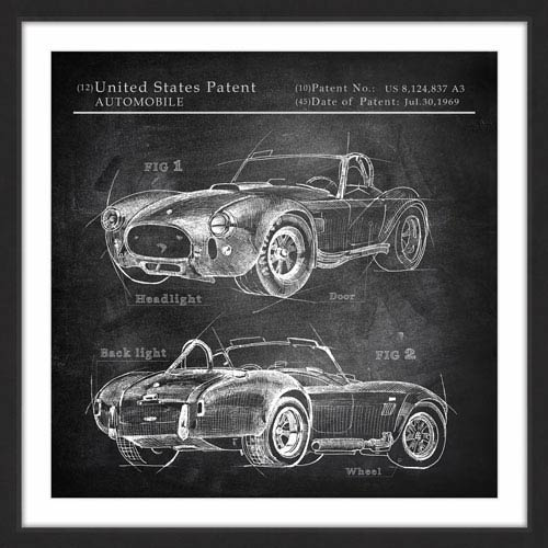 Marmont Hill 1968 Shelby Cobra 32 x 32 In. Framed Painting Print