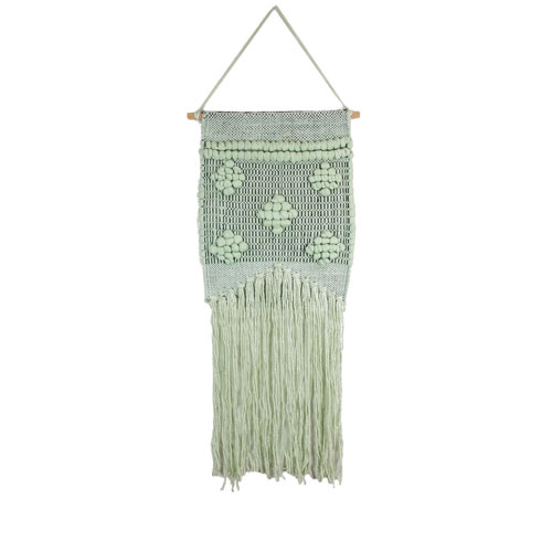 Light Green Macrame Wall Hanging