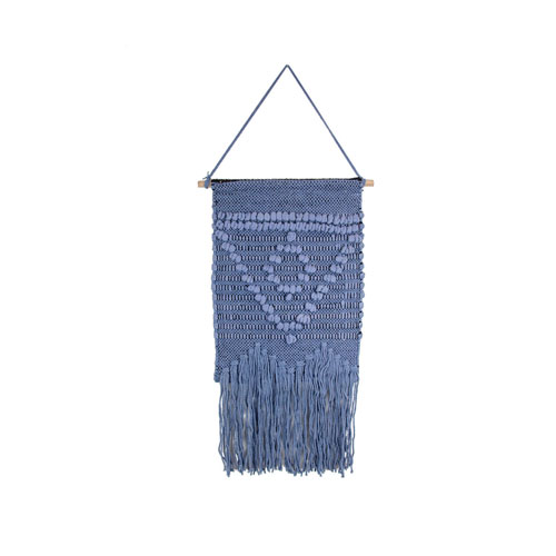 Blue Triangle Macrame Wall Hanging