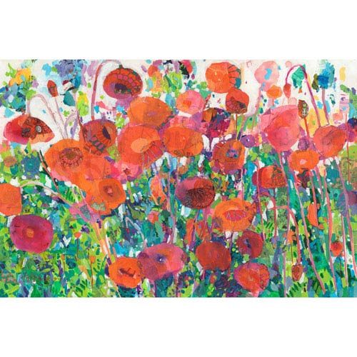 Marmont Hill Plentiful Poppies 24 x 16 In. Painting Print on Wrapped Canvas