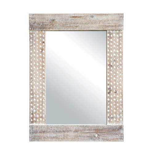 Shoreline Wall Mirror with White Wash Finish