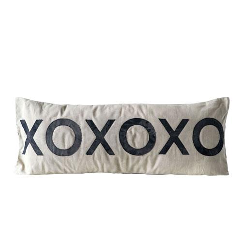 Collected Notions Cotton XOXOXO Pillow