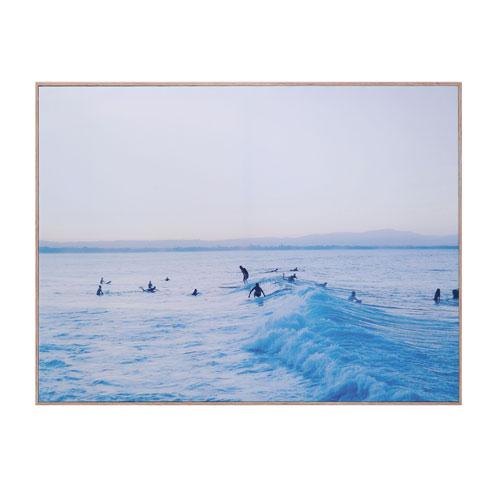 Shoreline Blue Morning Surf Swell Wall Decor