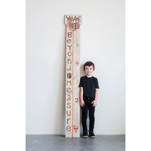 Little One You Are Loved Beyond Measure Ruler Growth Chart Wood Wall Decor