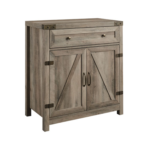 Gray and Black Accent Cabinet