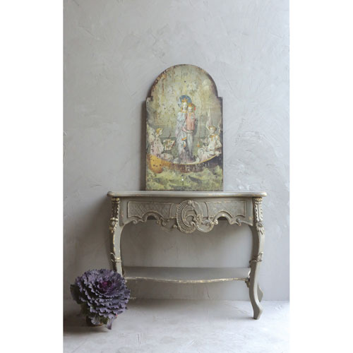 Vintage Mary and Angels Wood Wall Décor