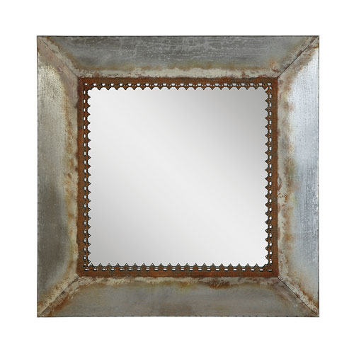 Gold Square 30 In. Metal Framed Mirror