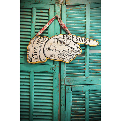 3R Studio Life is Very Short 24.5 In. Wall Sign