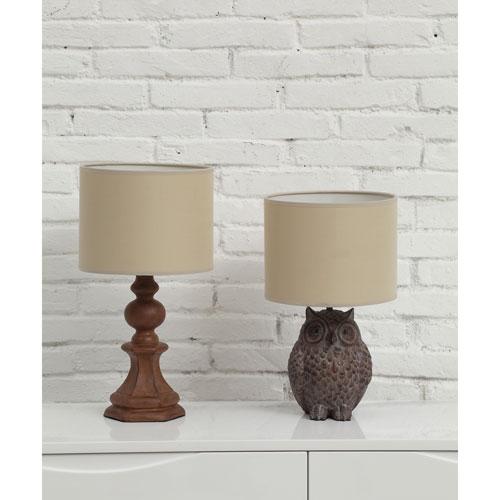 Distressed Brown Owl Lamp