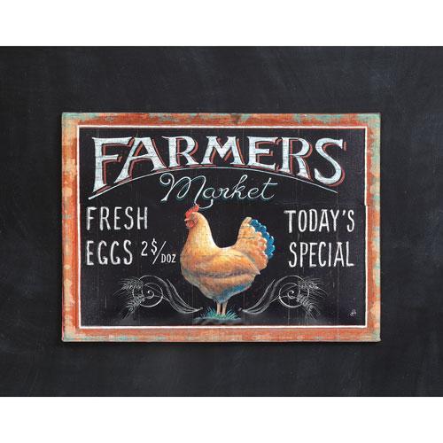 3R Studio Farmers Market Tin Embossed Wall Décor