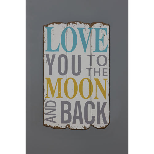 3R Studio Love You To The Moon And Back 19 In. Wall Plaque