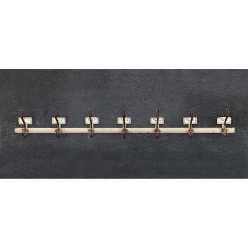 3R Studio Metal Wall Hook with Seven Hooks
