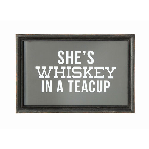 3R Studio Shes Whiskey In A Teacup Wood Wall Decor