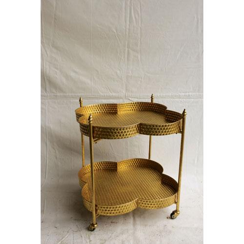Gold Clover Bar Cart