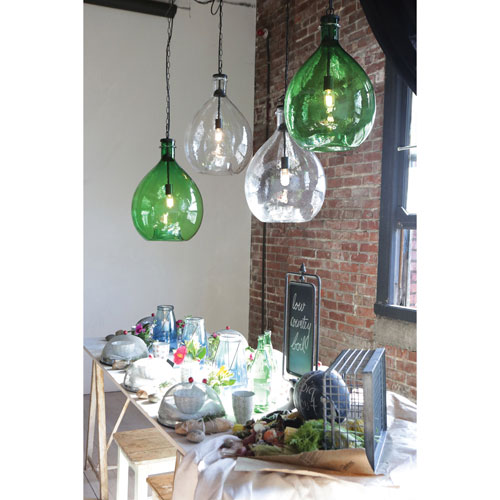 Clear Oversized Glass Pendant
