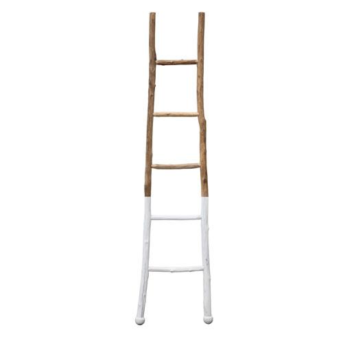 3R Studio White 72.5 In. Wood Ladder