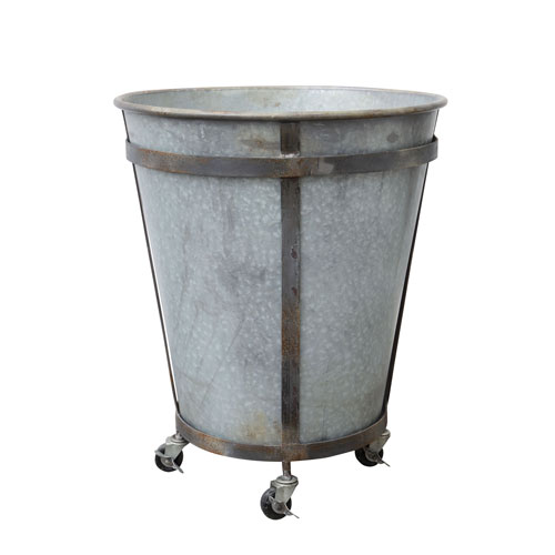 Tin Planter on Casters