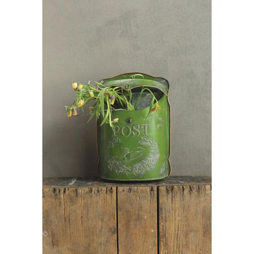 3R Studio Green Tin Post Box