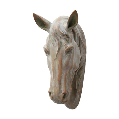 Distressed Rust Horse Head