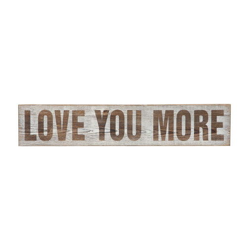 Love You More Wall Décor