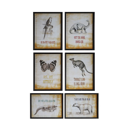 3R Studio Animals and Sayings Wall Décor, Set of Six